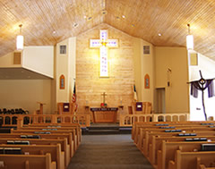 Inside Cross of Christ Lutheran Church, South Lyon, Michigan